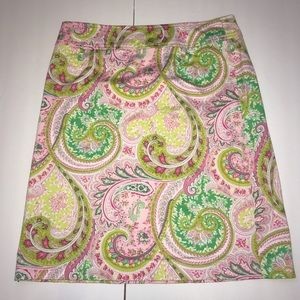 e4d052082a 3 Sisters Pink Paisley A-Line Skirt Size 10